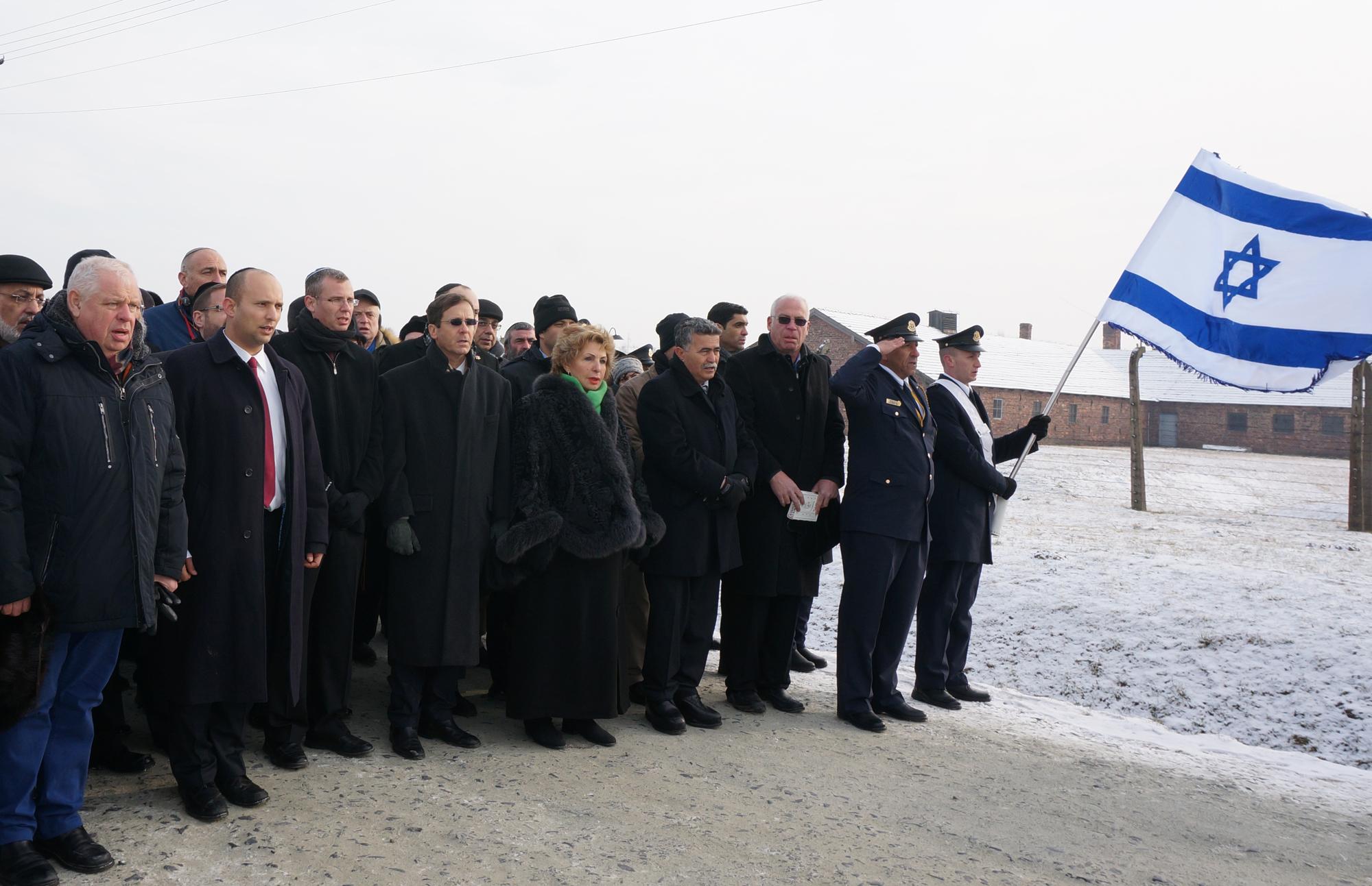Knesset members visit Auschwitz