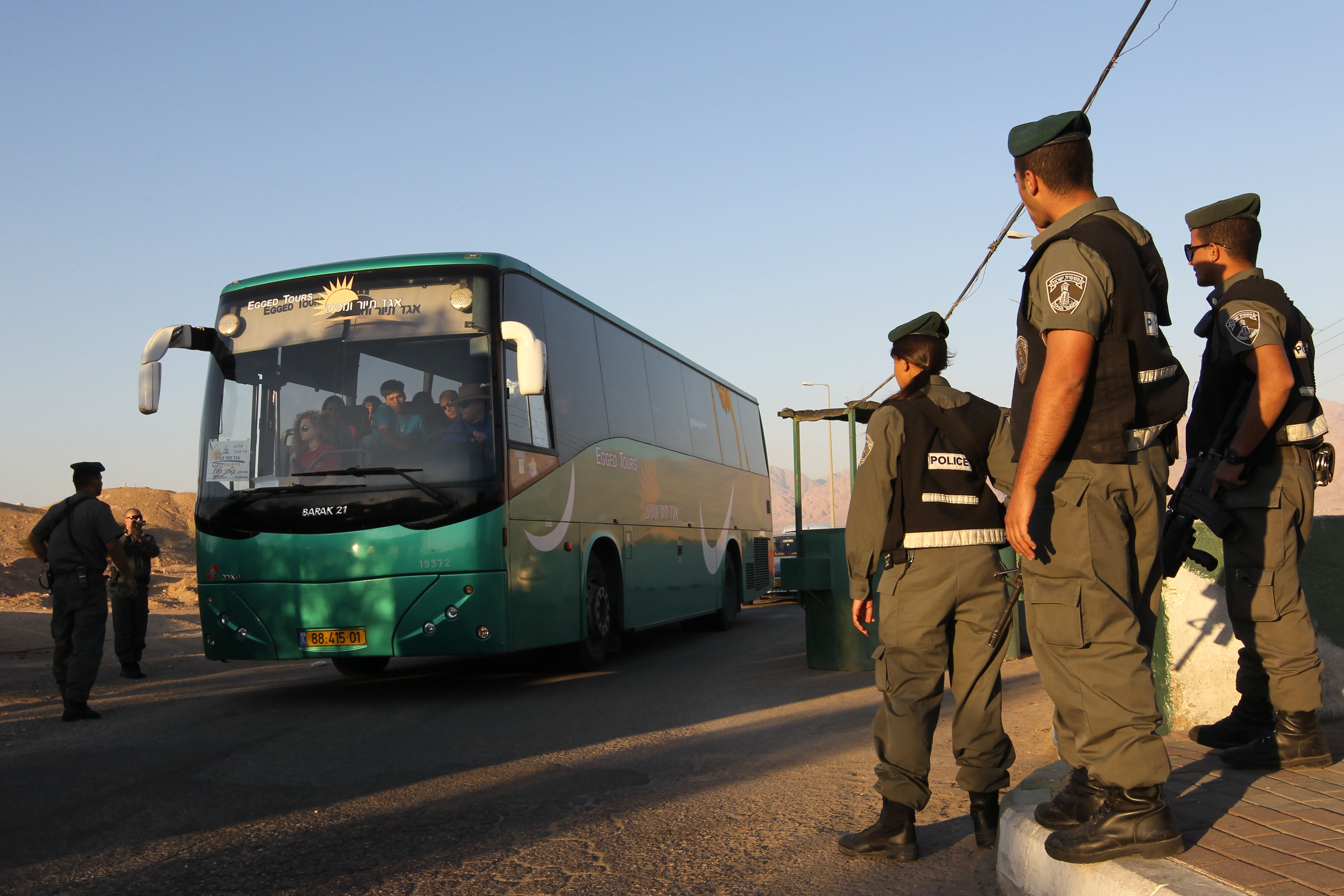 Bus from Sinai to Eilat