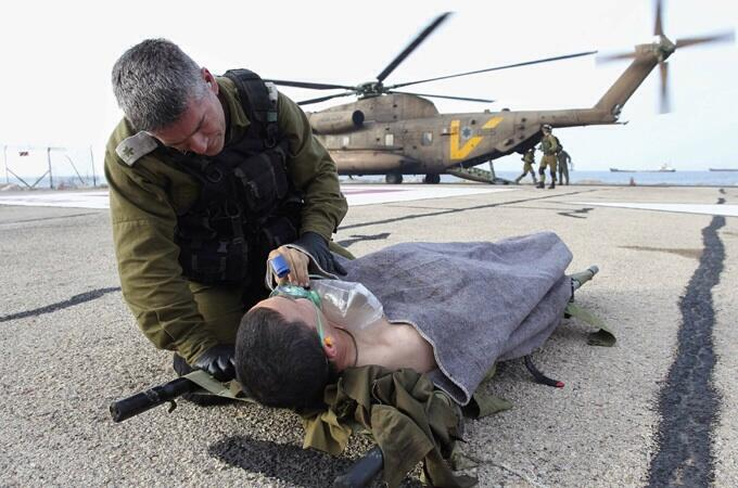 injured IDF soldier