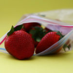 Strawberries in plastic baggie