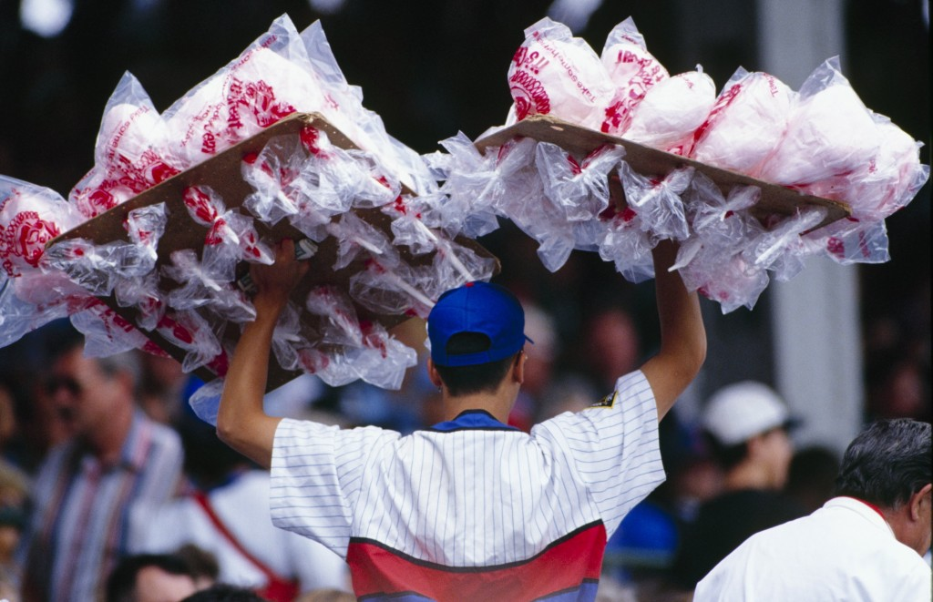 cotton candy vender at wrigley field
