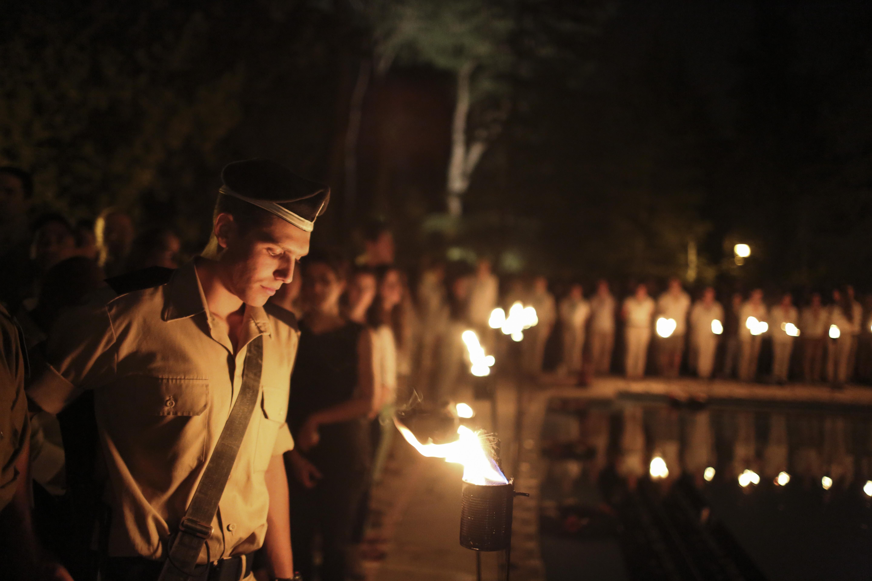 Soldiers on yom hazikaron