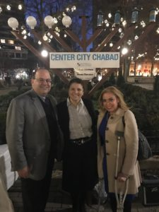 From left: City Councilman Allan Domb, Israeli American Council Chairwoman Iris Hami and City Representative Sheila Hess