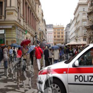 Vienna: In/Security, photomontage by Linda Dubin Garfield