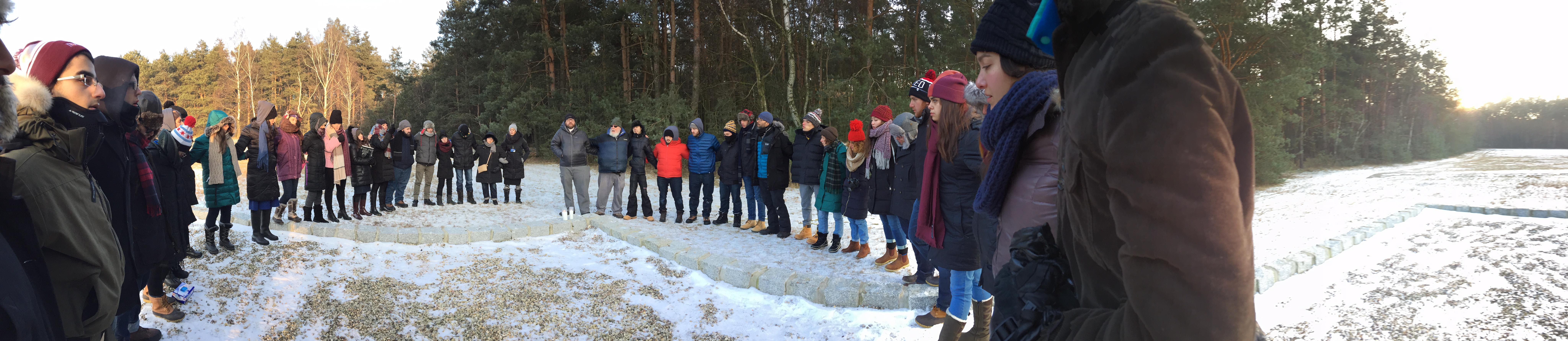 A group of students from Temple and other schools reburied bone fragments at Chelmno. Photo credit: Justin Harrison