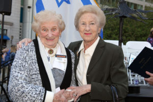 From left: Manya Perel and Goldie Slivovitz of the Association of Jewish Holocaust Survivors. Photos provided