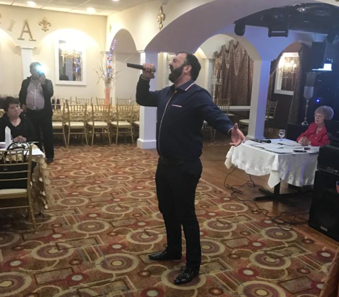Baritone David Gvinianidze Performs An Aria At Astoria Restaurant In Northeast Philadelphia For A Russian Group Jon Marks