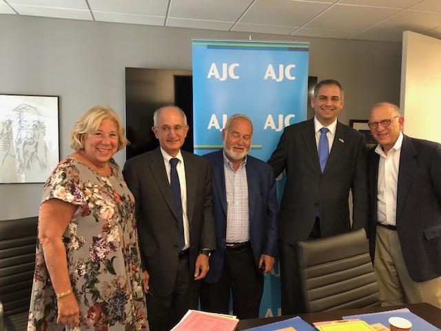 Deputy Consul General of Israel Visits with AJC - Jewish