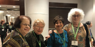 Aileen Salus, Paula Bursztyn Goldberg, Greater Philadelphia Section President Barbara Nussbaum and Janet Ecksel