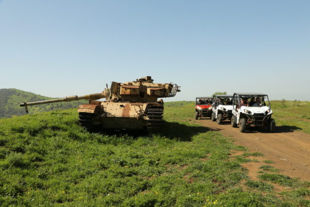ATV rides near the Syrian border