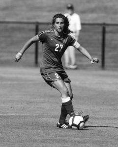 Myra Sack plays soccer