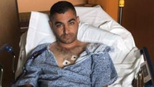 Almog Peretz in hospital bed