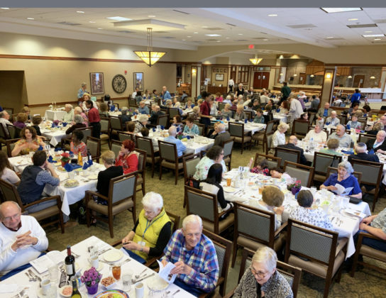Attendees at the seder