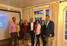 David Cohen, Jackie Needleman, Chani and Alon Monsonego, Michele Levin and Connie and Sam Katz