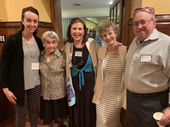 Molly Hicks, Irma Pretsfelder, Rabbi Shelly Barnathan, Debby Swirsky-Sacchetti and Michael Grossman