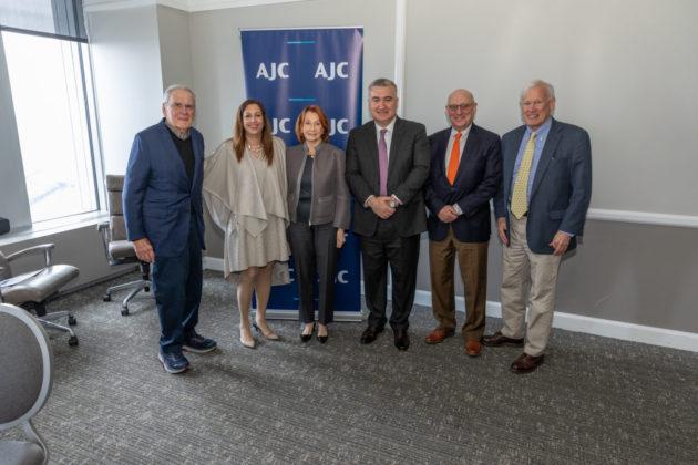 Stanley Ginsburg, Marcia Bronstein, Sally Cooper Bleznak, Ambassador Elin Suleymanov, Richard Berkman and Tom Tropp