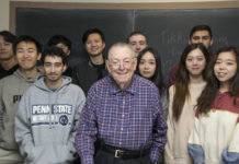 Rabbi Howard Bogot with one of his classes