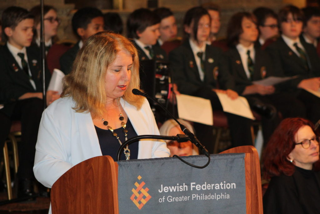 Galit Peleg speaks at annual Holocaust Remembrance Ceremony
