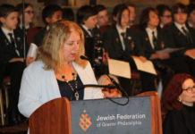 Galit Peleg speaks at annual Holocaust Remembrance Ceremony