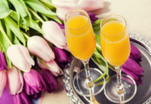 Two mimosas to serve with a Mother's Day brunch