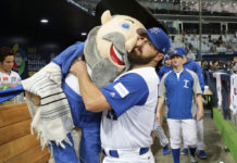 Cody Decker with the Mensch on the Bench.