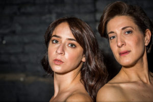 Michaela Shuchman as Chana and Leah Walton as Halina in Arden Theatre Company's INDECENT. Photo credit_ Wide Eyed Studio