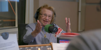 Dr. Ruth Westheimer speaks on the radio