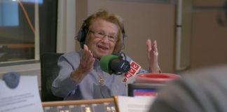 Dr. Ruth Westheimer speaks on the radio