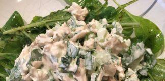 Traditional chicken salad.
