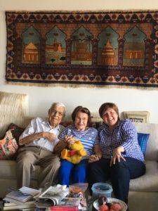 Mort Prince, Bella Lewensohn Schafer and friend Sandrine Erdely-Sayo
