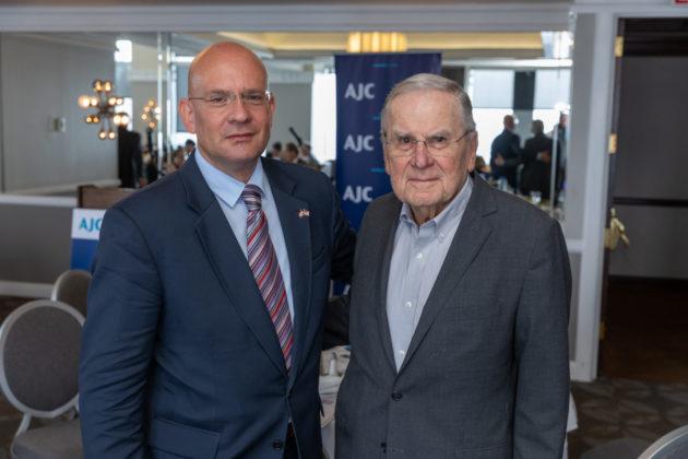From left: Ambassador Pjer Šimunović of Croatia and Stanley Ginsburg