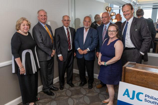 From left: Arlene Fickler, Matt Sall, David Smith, Marcel Groen, Ambassador Pjer Šimunović, Peter Longstreth and Jennifer Steinberg