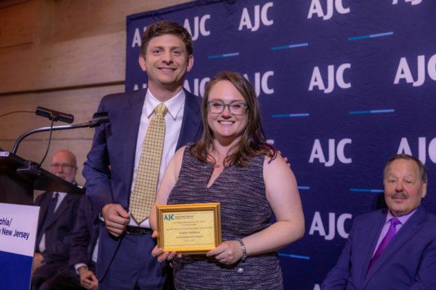 From left: Michael Fabius, AJC board vice president and 2018 Friedman Award honoree, with AJC Murray Friedman Emerging Leader Award recipient Jennifer Steinberg