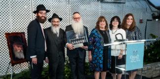 From left: Rabbi Mendy Cohen, Rabbi Shraga Sherman, Dan Shinefield, Maita Shinefield, Michal Sherman and Temma Cohen