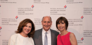 From left: Susanna Lachs Adler, Philip Darivoff and Betsy Darivoff at the only in america gala