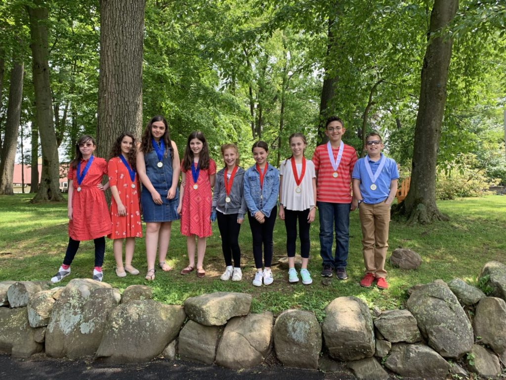 Emi Travalia, Adar Khaikin, Shira Rozilio and Gavriella Saks from the Forman Center finished first. Noa Singer, Ilana Fink, Odelia Krasner-Friedman, Benjamin Friedman and Leo Cook from the Stern Center placed second.