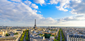 A view of Paris with the Eiffel Tower