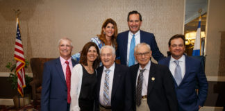 Back row from left: event co-chairs Jill and Chip Kurtzman. Front row from left; Michael Kane, Sue Kane, Donnie Greenbaum, Ernie Gross and Ken Dash