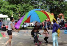 Kids play at a World Refugee Day celebration in Philadelphia