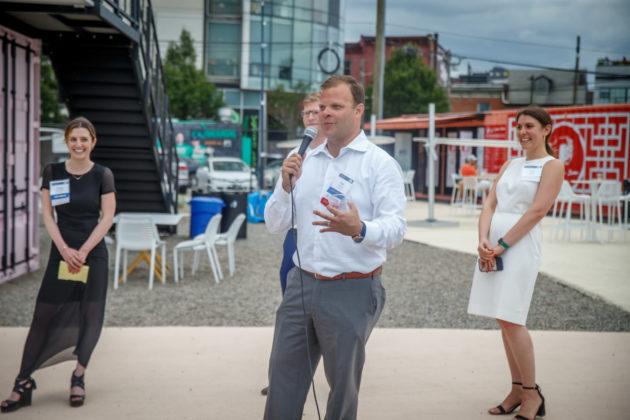 JFRE Chair-elect and event host Matt Pestronk