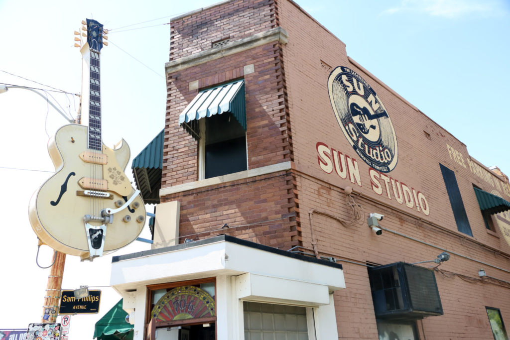 Sun Studio in Memphis, where Elvis Presley recorded music