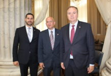 Croatian State Secretary Tonci Glavina, Ambassador to the U.S. Pjer Simunovic and State Secretary Frano Matusic of the Republic of Croatia Ministry of Tourism during a Philadelphia visit