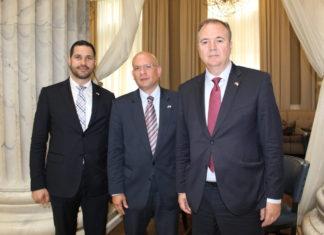 Croatian State Secretary Tonci Glavina, Ambassador to the U.S. Pjer Simunovic and State Secretary Frano Matusic of the Republic of Croatia Ministry of Tourism during a Philadelphia visit