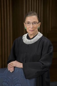 The official photo of Ruth Bader Ginsburg, also known as RBG. Philadelphia will host an exhibit on RBG