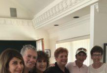 IDF Executive Director Tzvia Wexler, Timi Wolov, Sivy Blume, Carol Summers, Jan Albert and Geri Fish