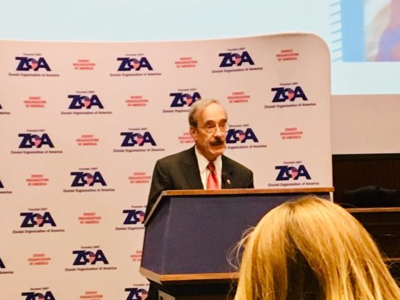 Rep. Eliot Engel (D-NY) addresses the ZOA members