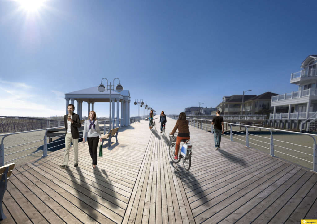 An image of people walking along the proposed Margate boardwalk