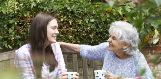 A young LGBTQ woman comes out to her grandmother over cups of tea