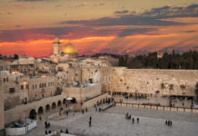 Western Wall and the Dome of the Rock in Jerusalem, Israel