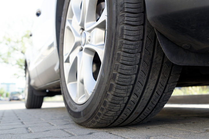 A car wheel driving